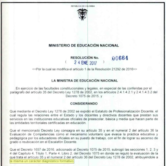 Modificado el cronograma para la ii cohorte de la ecdf for Resolucion docentes 2016