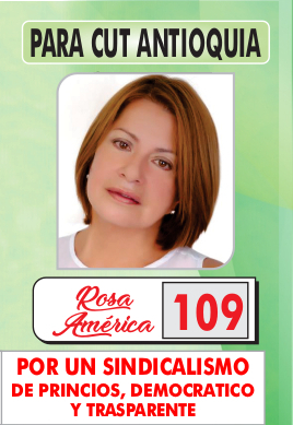 Rosa América - CUT Antioquia.
